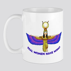 "Isis ""Real Women Have Wings"" Mug"