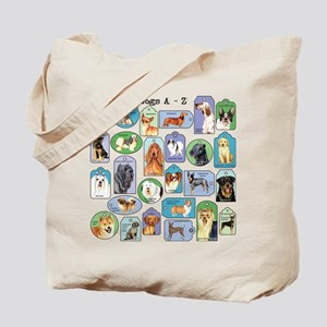 Dogs A-Z Tote Bag