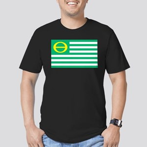 Ecology Flag Men's Fitted T-Shirt (dark)