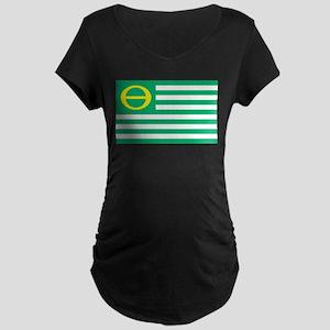 Ecology Flag Maternity Dark T-Shirt