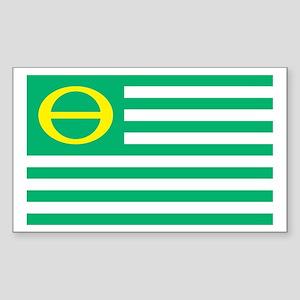 Ecology Flag Rectangle Sticker 10 pk)