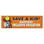 Save a Kid Bumper Sticker