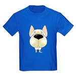 Big Nose Frenchie Kids Dark T-Shirt
