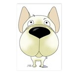 Big Nose Frenchie Postcards (Package of 8)