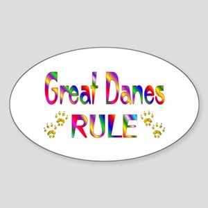 Great Dane Oval Sticker