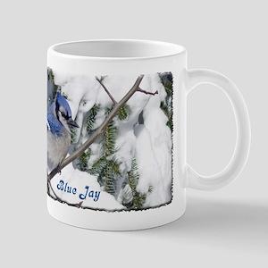 Blue Jay in winter Mug