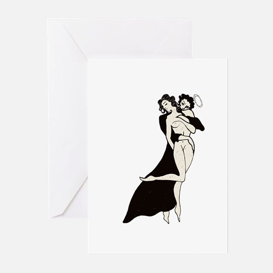 Cute Nude woman Greeting Cards (Pk of 10)