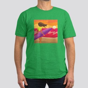 Surf Scape Men's Fitted T-Shirt (dark)