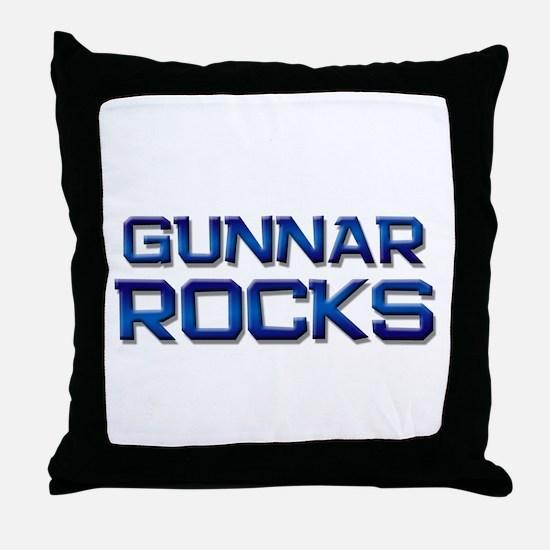 gunnar rocks Throw Pillow