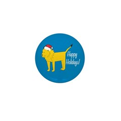 Lion Holiday Mini Button (10 pack)