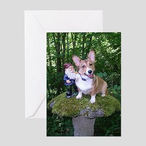 The Enchanted Corgi Greeting Card