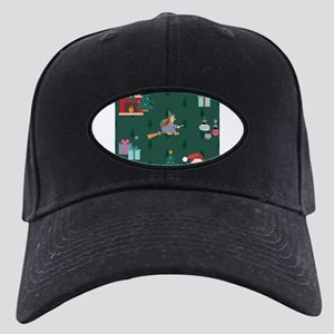 santa claus befana Black Cap with Patch