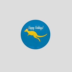 Kangaroo Holiday Mini Button