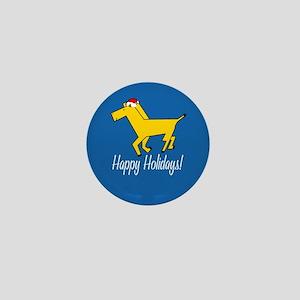 Horse Holiday Mini Button