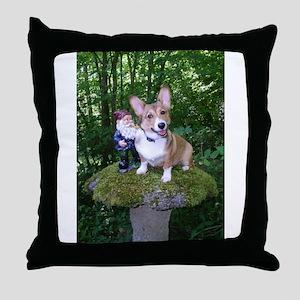 The Enchanted Corgi Throw Pillow