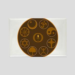 Sanctuary Symbols Rectangle Magnet