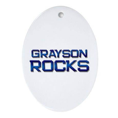 grayson rocks Oval Ornament