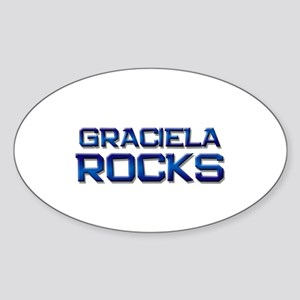 graciela rocks Oval Sticker