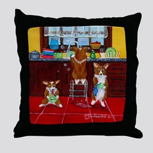 Lick, Wash, Dry Throw Pillow