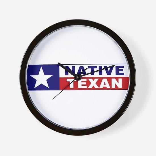 Native Texan Wall Clock