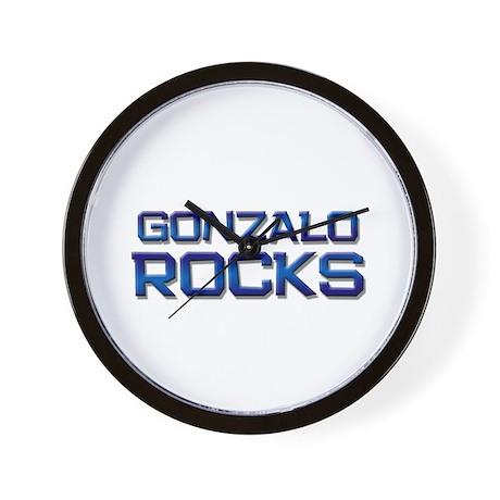 gonzalo rocks Wall Clock