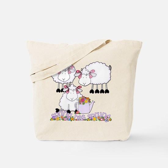 Spring Sheep Tote Bag