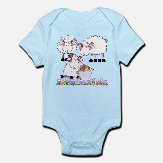 Spring Sheep Infant Bodysuit