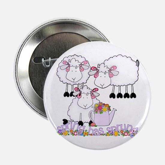 """Spring Sheep 2.25"""" Button"""