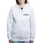 Women's Zip Sweatshirt Band Groupie Blue