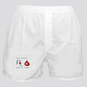 Give blood Boxer Shorts