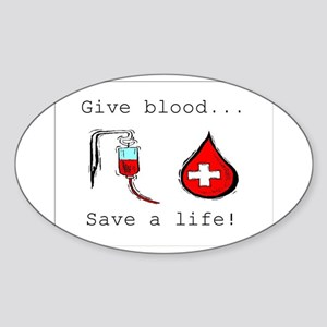 Give blood Oval Sticker