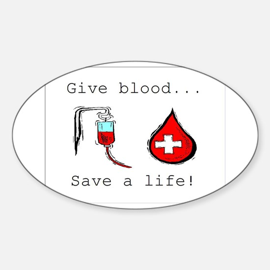 Give blood Oval Decal