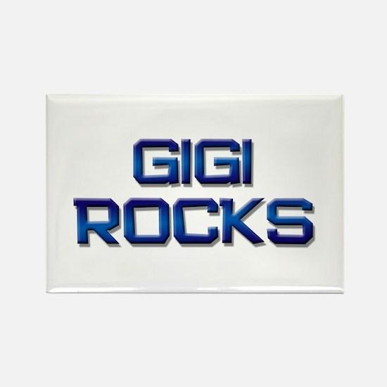 gigi rocks Rectangle Magnet