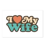 I Love My Wife Postcards (Package of 8)