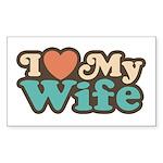 I Love My Wife Rectangle Sticker