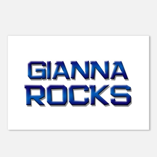 gianna rocks Postcards (Package of 8)
