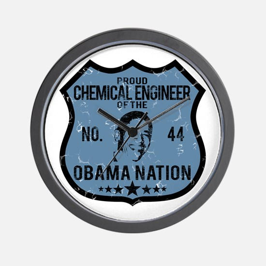 Chemical Engineer Obama Nation Wall Clock