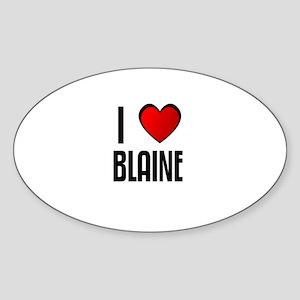 I LOVE BLAINE Oval Sticker