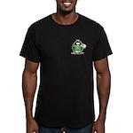 Love the Earth Penguin Men's Fitted T-Shirt (dark)