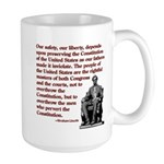 Preserve the Constitution Large Mug