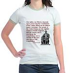 Preserve the Constitution Jr. Ringer T-Shirt