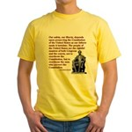 Preserve the Constitution Yellow T-Shirt