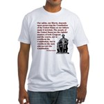 Preserve the Constitution Fitted T-Shirt