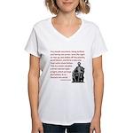 Shake off the existing Women's V-Neck T-Shirt