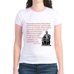 Shake off the existing Jr. Ringer T-Shirt