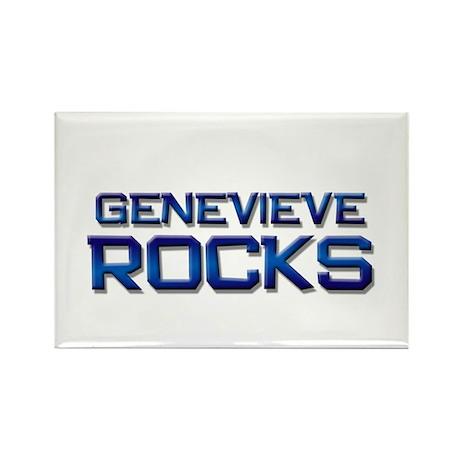 genevieve rocks Rectangle Magnet