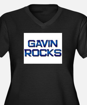gavin rocks Women's Plus Size V-Neck Dark T-Shirt