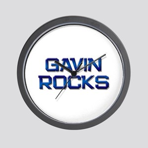 gavin rocks Wall Clock