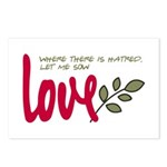 Let me sow love Postcards (Package of 8)