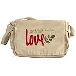 Let me sow love Messenger Bag